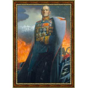 Портрет Владимира Путина - 3 в рамке под стеклом