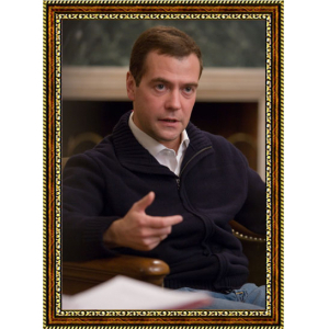 Портрет Патриарха Кирилла - 3 в рамке под стеклом