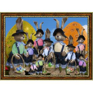 Репродукция с пасхальными кроликами - 4