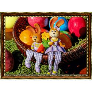 Репродукция с пасхальными кроликами - 11