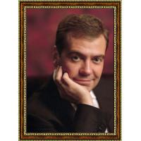 Портрет Патриарха Кирилла - 1 в рамке под стеклом