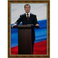Портрет Патриарха Кирилла - 2 в рамке под стеклом