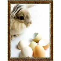 Репродукция с пасхальными кроликами - 1