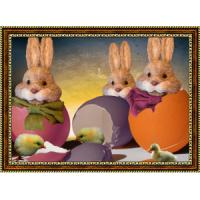 Репродукция с пасхальными кроликами - 3