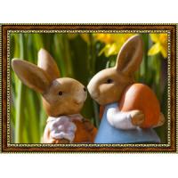 Репродукция с пасхальными кроликами - 9